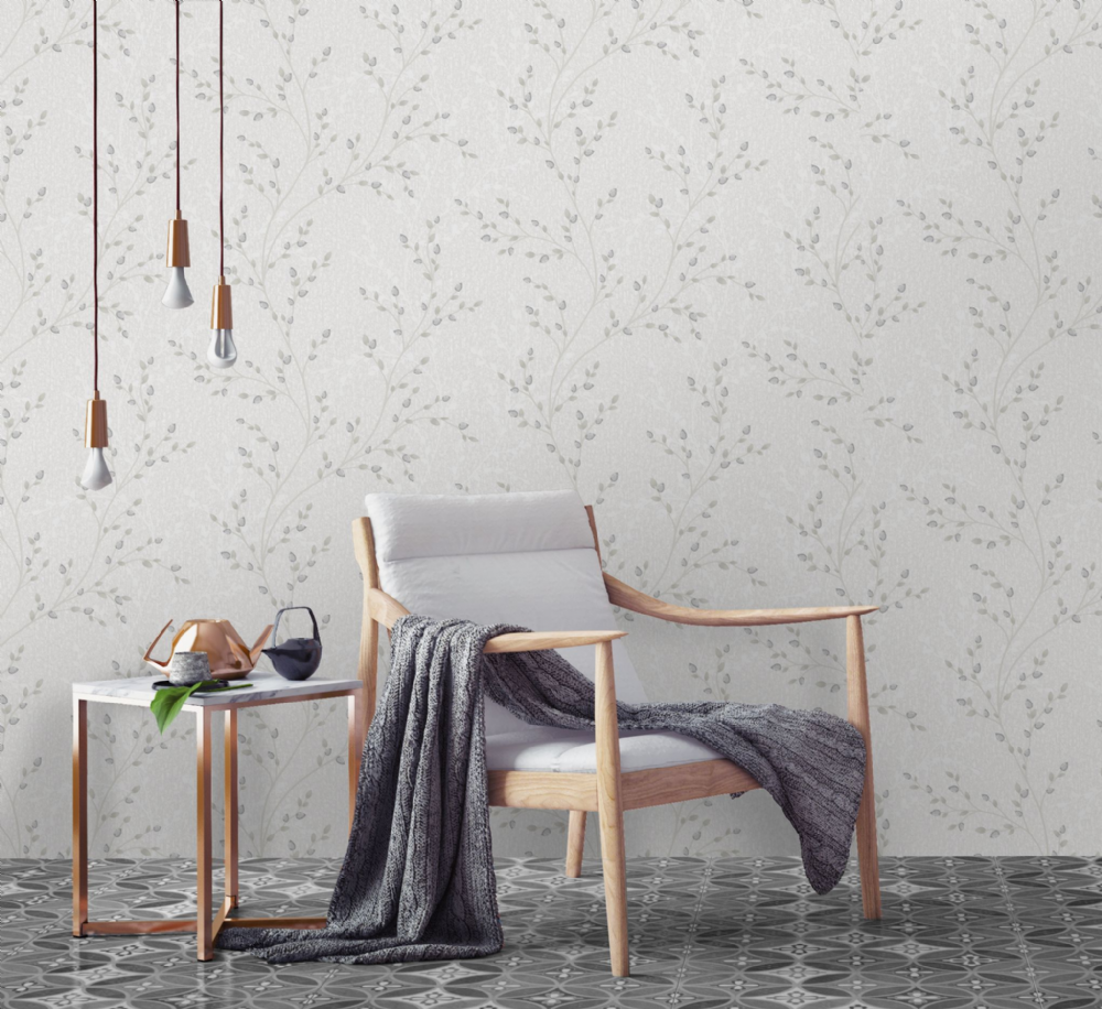 Holden Decor Amelio Dove Grey Trail 35703 Wallpaper